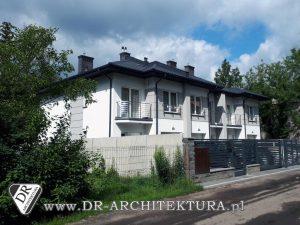 Architekt Zielonka - Budynek mieszkalny w zabudowie bliźniaczej
