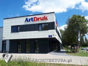 Architekt Kobyłka - Elewacja budynku biurowego