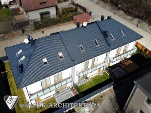 Architekt Ząbki - Budynek mieszkalny jednorodzinny w zabudowie bliźniaczej