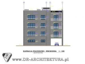 Budynek usługowo – biurowy z częścią mieszkalną