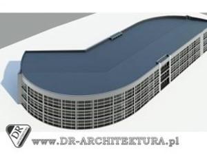 Koncepcja budynku usługowego-biurowego