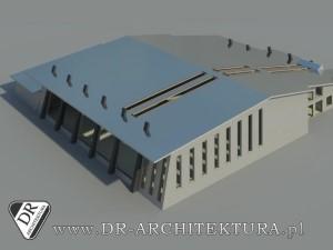 Koncepcja budynku hali sportowej
