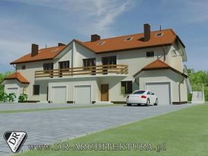 Dwa budynki mieszkalne w zabudowie bliźniaczej w Kobyłce